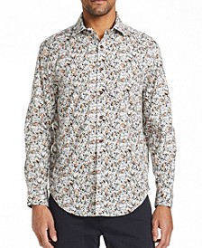 Men's Slim Fit Ditsy Floral Shirt and a Free Face Mask