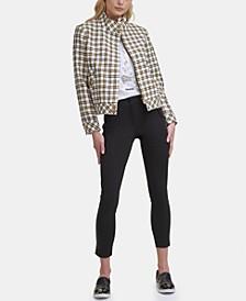 Karl Lagerfeld Tweed Bomber Jacket