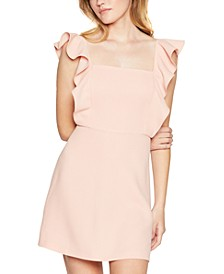 Ruffled Square-Neck Dress