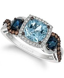 Chocolatier® Multi-Gemstone (1-3/4 ct. t.w.) & Diamond (1/4 ct. t.w.) Ring in 14k White Gold