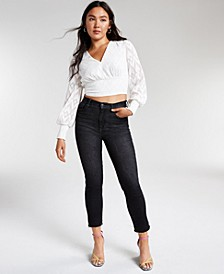 Jacquard Cropped Blouse, Created for Macy's