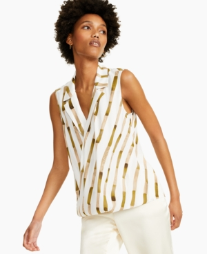 Printed Collared Top