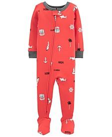 Baby Boys Nautical Cotton Footie Pajamas