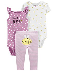 Baby Girls Bee Little Character Set, 3 Pieces