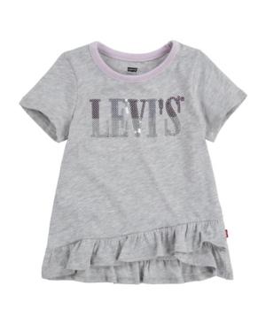 Levi's TODDLER GIRLS RUFFLE HEM TUNIC T-SHIRT