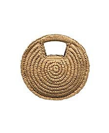 Talia Raffia Circle Clutch