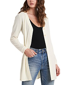 Double-Button Cardigan Sweater