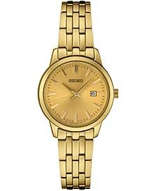 Women's Essential Gold-Tone Stainless Steel Bracelet Watch 30mm