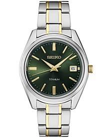 Men's Essential Two-Tone Titanium Bracelet Watch 40mm