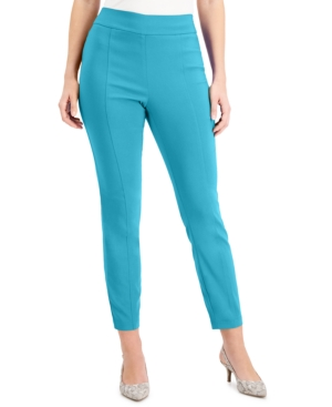 Pull-On Front-Seam Skinny Pants