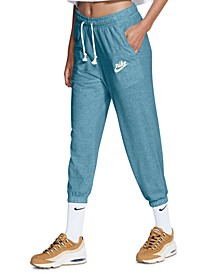 Women's Gym Vintage Cropped Sweatpants