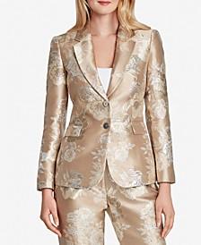 Metallic Floral Jacquard Blazer
