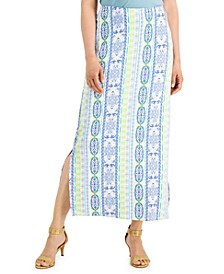 Printed Knit Maxi Skirt, Created for Macy's