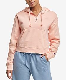 Women's Zip-Neck Hooded Sweatshirt