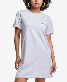 Women's Crewneck Cotton T-Shirt Dress