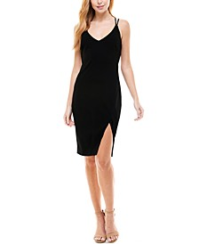 Juniors' Strappy-Back Dress