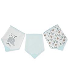 Baby Boys 3-Pack Teething Bandana Bibs
