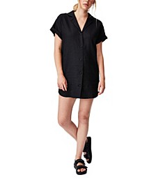 Women's Woven Evie Shirt Mini Dress