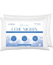 Cool Nights Pack of 2 Moisture-Wicking Standard Pillows