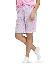 Flamingo Flight Bermuda Pajama Shorts