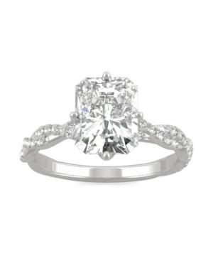 Moissanite Radiant Statement Ring 3-1/10 ct. t.w. Diamond Equivalent in 14k White Gold