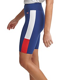 Women's High Rise Bike Short with Color Blocking