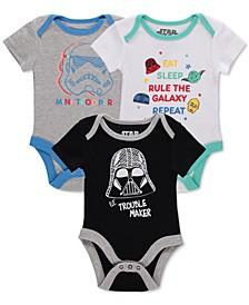 Baby Unisex 3-Pk. Star Wars Bodysuits
