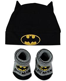 Baby Boys 2-Pc. Batman Cap & Booties Set