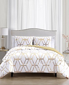 CLOSEOUT! Favo 3-Pc. Reversible Full/Queen Comforter Set