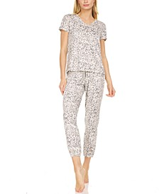 Women's Elsa Printed Knit 2 Piece Pajama Set