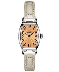 Women's Swiss Heritage Porto Gray Leather Strap Watch 22x30mm