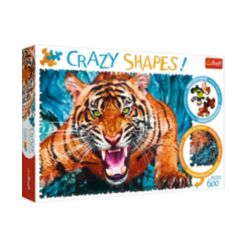 Trefl Crazy Shape Jigsaw Puzzle Facing a Tiger, 600 Piece
