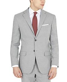 Men's Modern-Fit Light Gray Stretch Suit Jacket