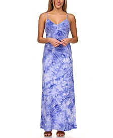 Tie-Dyed Slip Maxi Dress, Regular & Petite Sizes