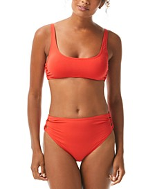 Strappy-Side Bikini Top & Strappy-Side High-Leg Bikini Bottoms