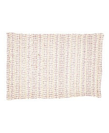 """Table Placemats with Woven Line Design Set of 4, 20"""" x 14"""""""
