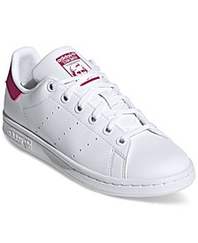 Big Girls Originals Stan Smith Primegreen Casual Sneakers from Finish Line