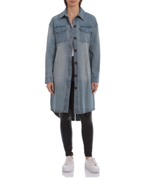 Women's Belted Denim Shirt Jacket