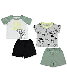 Baby Boys 4-Pc. T-Shirts & Shorts Set