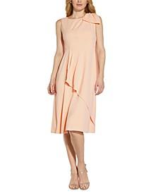 Faux-Wrap A-Line Dress
