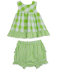 Baby Girls 2-Pc. Checked Top & Shorts Set
