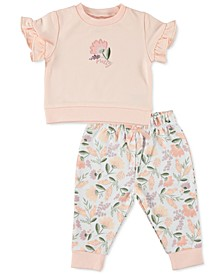 Baby Girls 2-Pc. Top & Jogger Pants Set 2