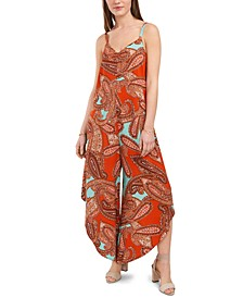 Printed Cage-Back Jumpsuit