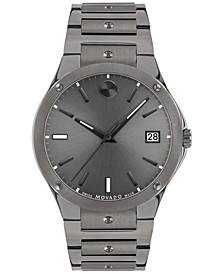 Men's Swiss SE Gray PVD Bracelet Watch 41mm