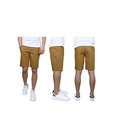 Men's 5-Pocket Flat-Front Slim-Fit Stretch Chino Shorts