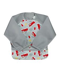 Baby Boys and Girls Snap Go Easy Wear Long Sleeve Bibs
