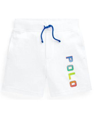 폴로 랄프로렌 Polo Ralph Lauren Little Boys Logo Spa Terry Shorts,White