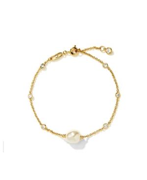 Imitation Pearl Line Bracelet