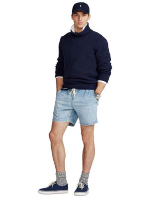 폴로 랄프로렌 Polo Ralph Lauren Mens 6.5-Inch Polo Prepster Denim Shorts,Lathan