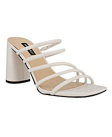 Women's Girlie Square Toe Strappy Dress Sandals